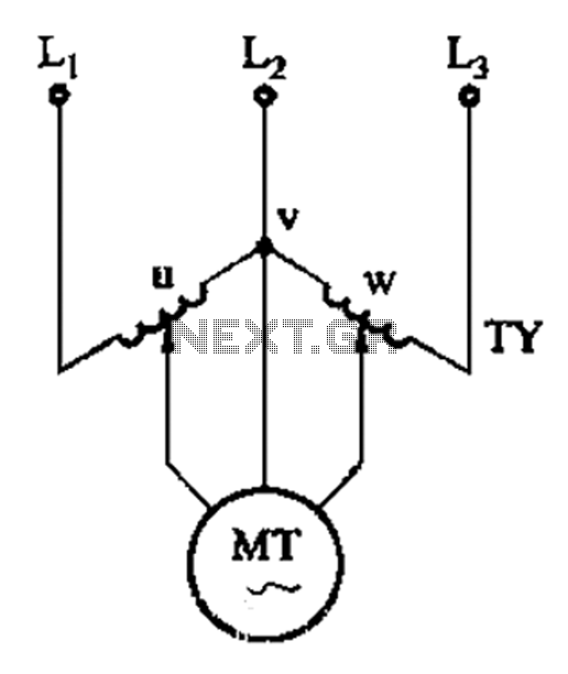 V-shaped torque motor speed control circuit - schematic