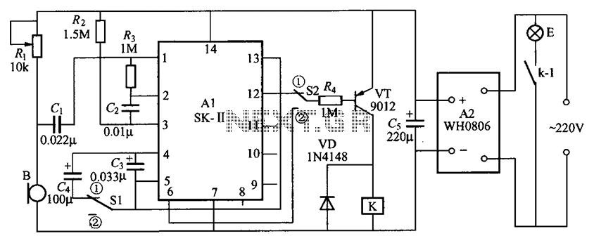 Voice music outlet circuit diagram SK- made - schematic