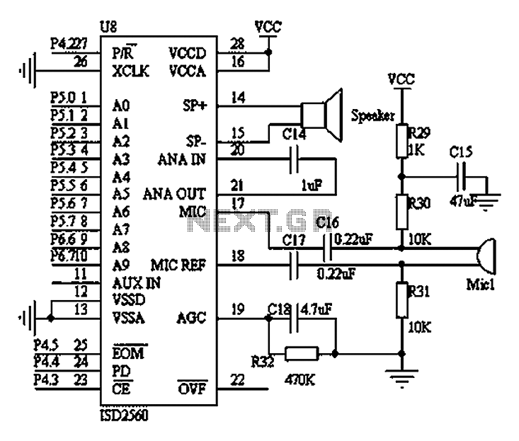 Wearable medical devices voice alarm circuit diagram - schematic