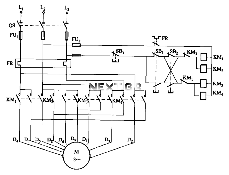 Mosfet circuit other circuits for Two speed motor control