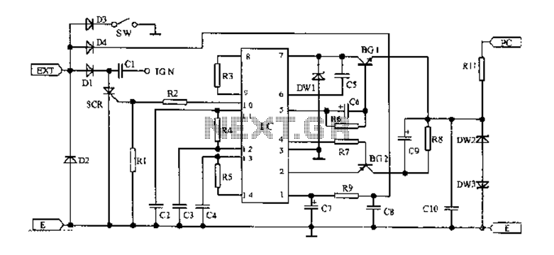 125 Motorcycle electronic ignition circuit diagram car circuit next gr