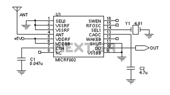 200 meters remote control schematic design