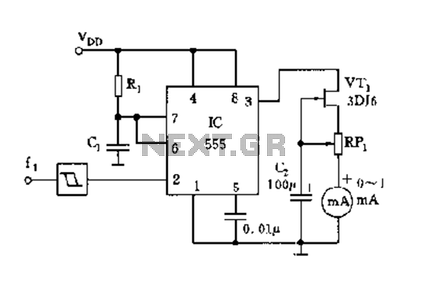 555 meter frequency meter schematic under frequency meter circuits