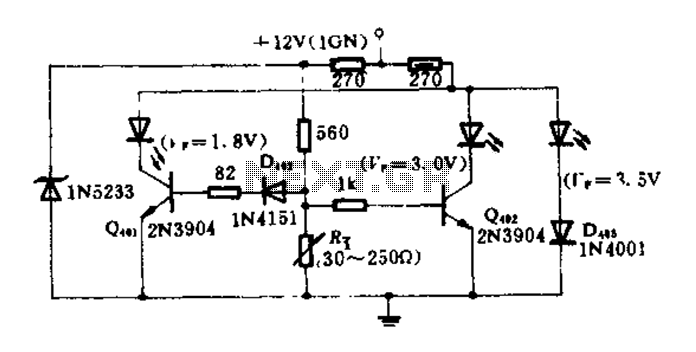 A hydraulic circuit diagram showing