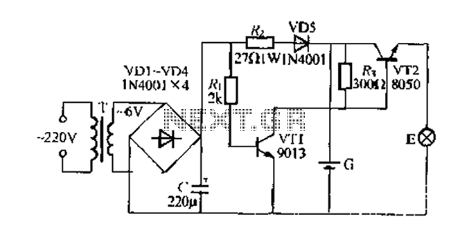 Blackout emergency lights circuit 2 - schematic