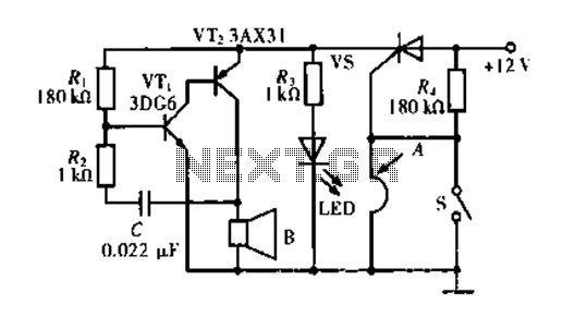 Break burglar alarm circuit II - schematic