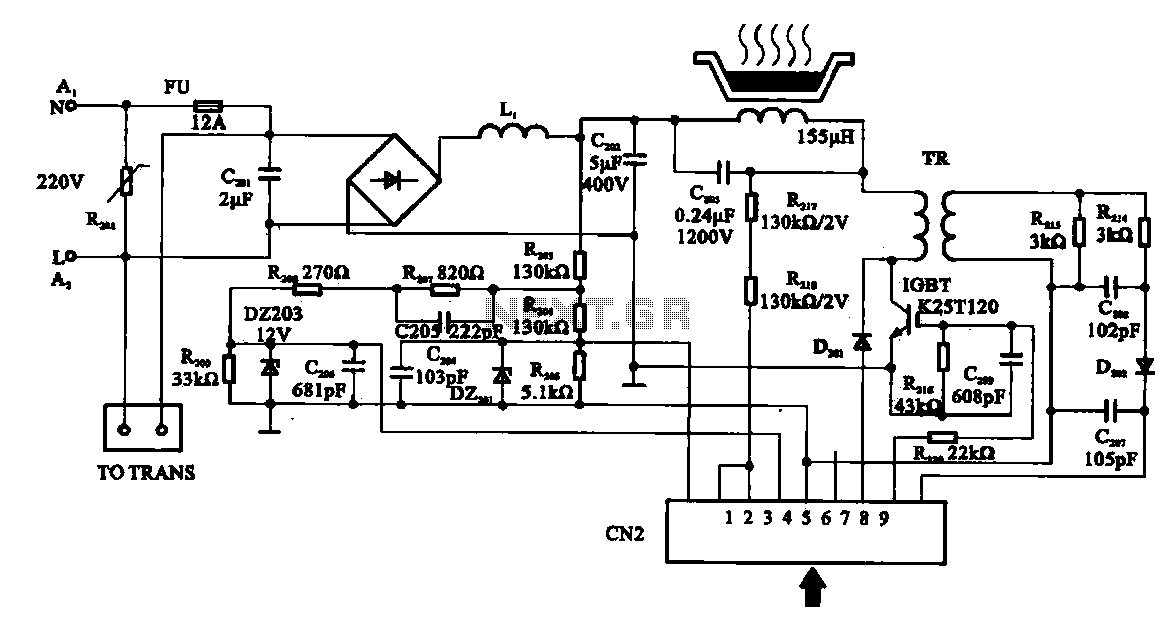 Cookers detection control circuit - schematic