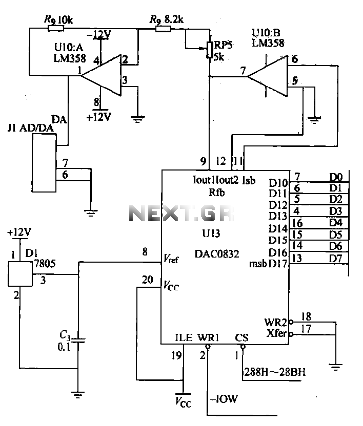 DA conversion circuit - schematic