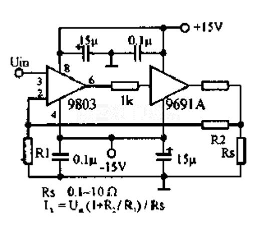 DC to 100W amplifier circuit diagram of 500KHZ - schematic