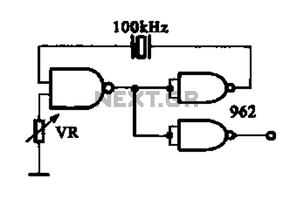 DTL integrated circuit by a crystal oscillator a - schematic