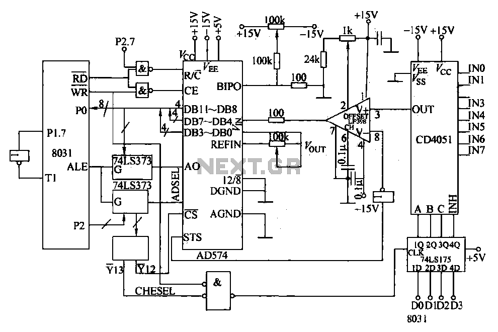 data acquisition system circuit under other circuits