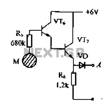 Delay electronic doorbell circuit - touch doorbell amplifier circuit - schematic