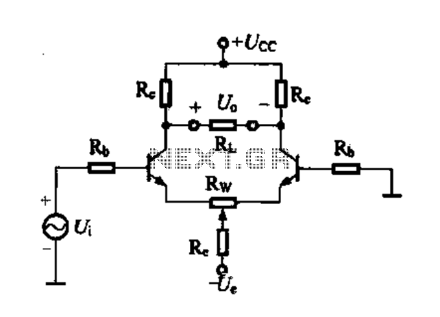 Differential amplifier circuit four connection methods and characteristics of comparison c - schematic