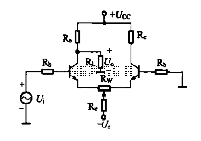 Differential amplifier circuit four connection methods and compare the characteristics of d