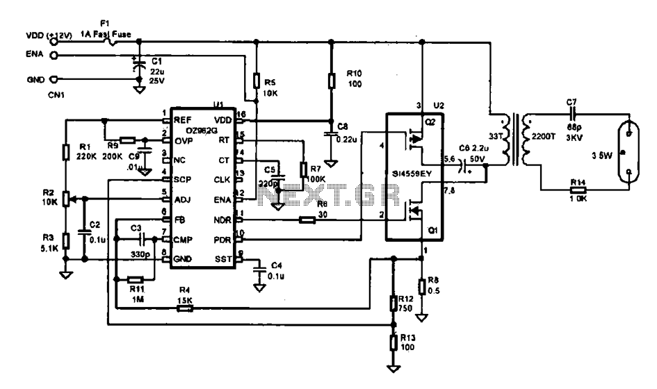 Efficient inverter control circuit