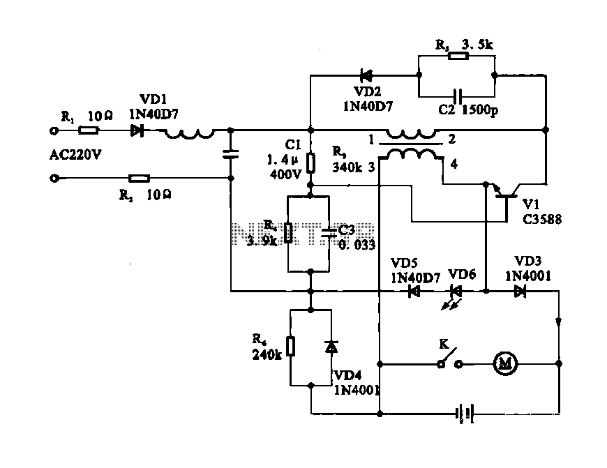 Electric shaver motor drive circuit - schematic