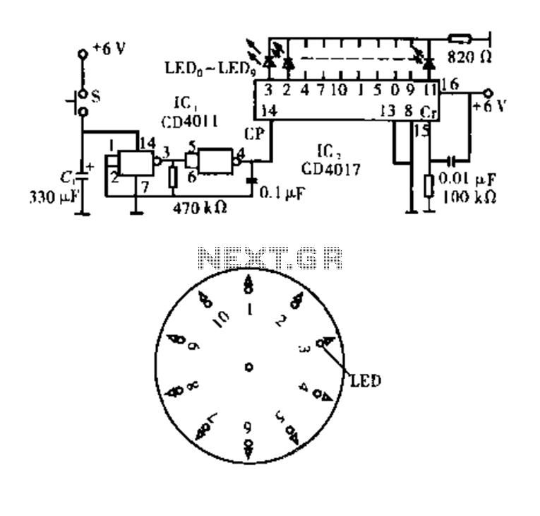 Electronic circuitry Dot Award - schematic