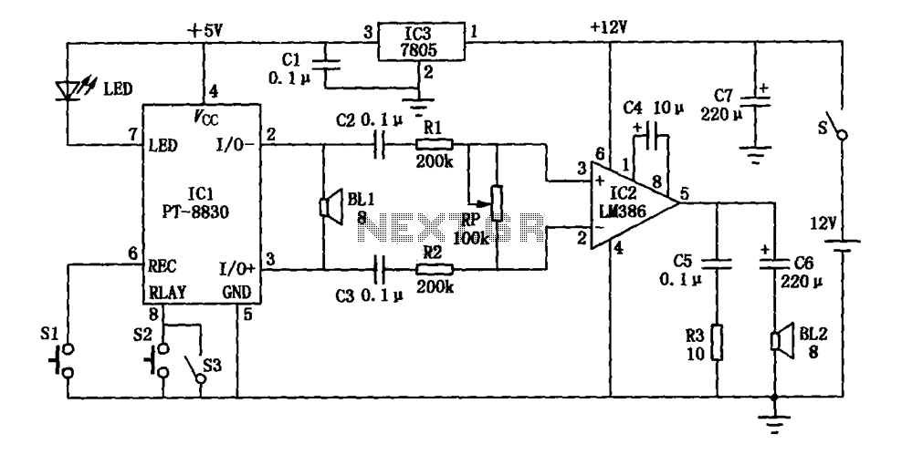 electronic devices yell lm386 pt
