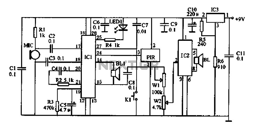 Electronic watchdog circuit - schematic
