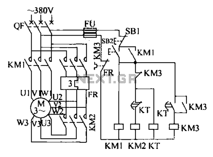 Extended delta decompression starter control circuit - schematic