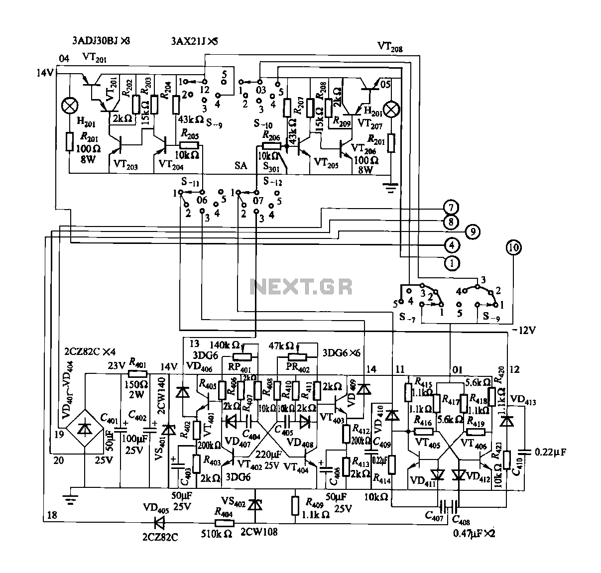 Automation Circuit Page 2 Electronic Circuits 335 Nextgr Fgdf 3 Three Phase Low Temperature Iron Plating Power Commutation Control Switch And