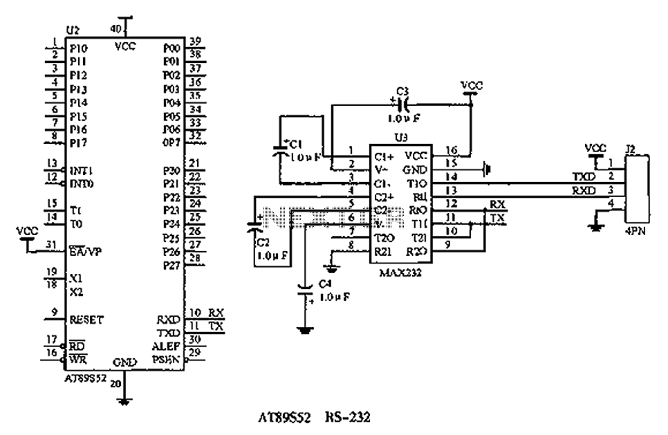 Face Recognition Attendance Machine interface circuit - schematic