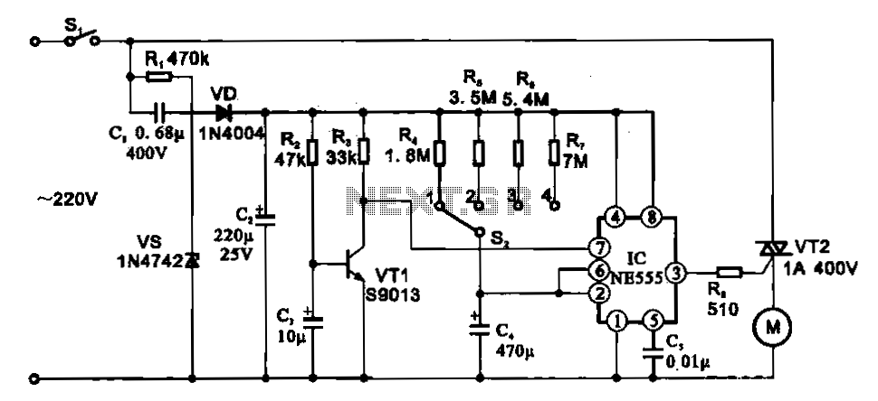 Fan motor driving circuit - schematic