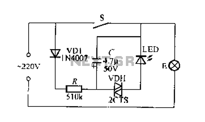 flashing light indicates the light switch circuit under light laser led circuits