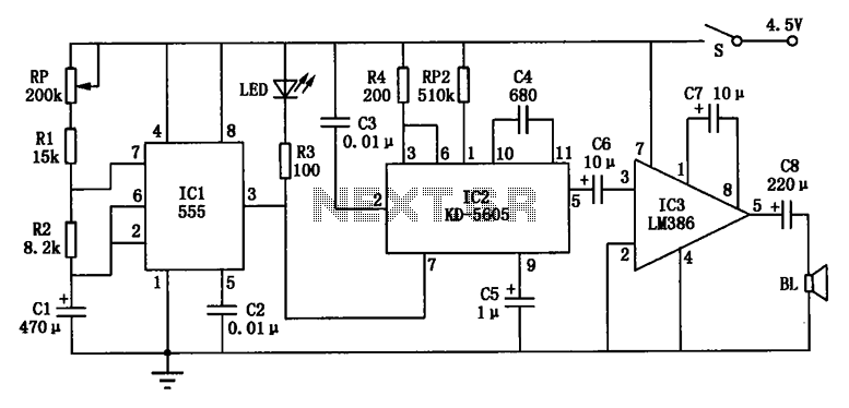 Flooding rats Electronic cat - schematic