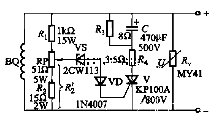 High voltage generator excitation set overvoltage protection circuit - schematic
