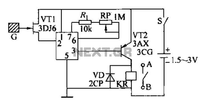 Induction automatic switch circuit