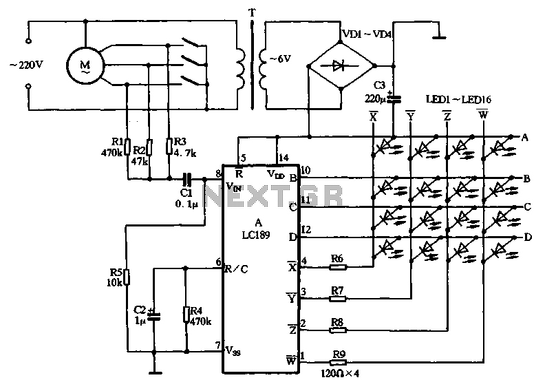LC189 making decorative lanterns with fans - schematic