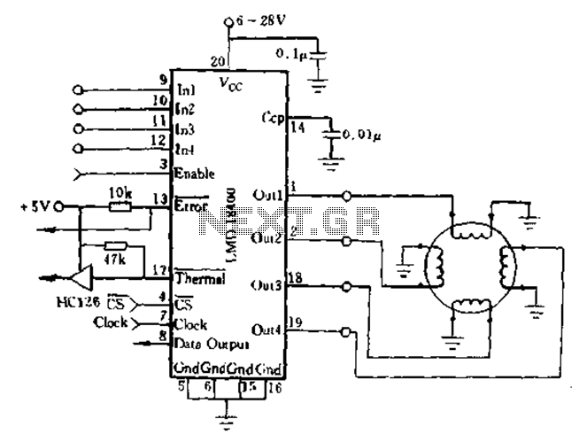 Stepper Motor Circuit Automation Circuits