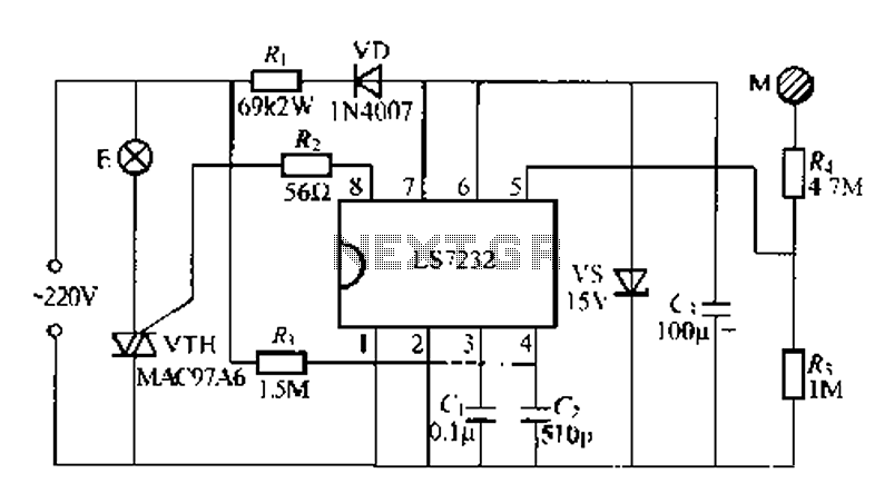 Broadband amplifier with bias compensation circuit diagram - schematic