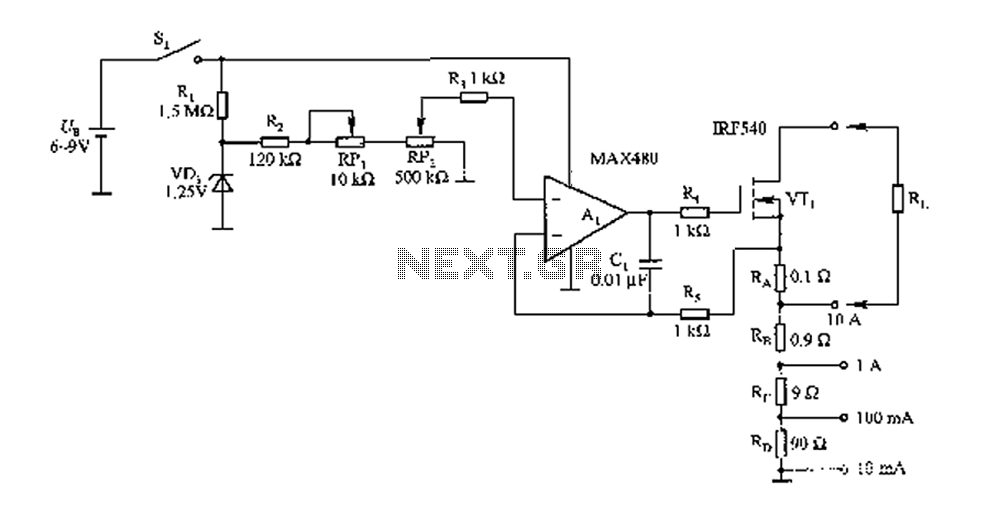 Load test control circuit diagram