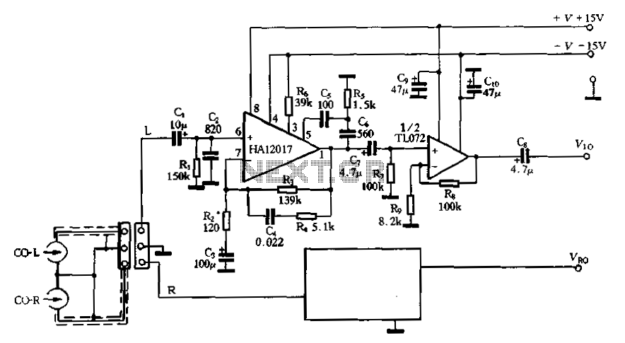 Low-noise pre-equalizer circuit - schematic