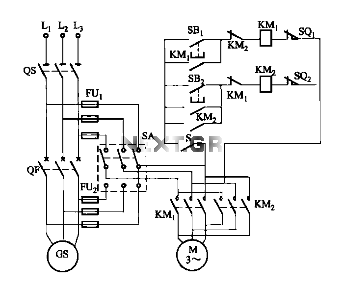 Motor Speed and Speed protection circuit of small hydropower stations - schematic