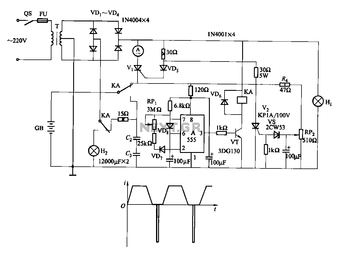 Battery Charger Circuit Power Supply Circuits The Time Delay With A Fet Controlcircuit Diagram One Fast Charge