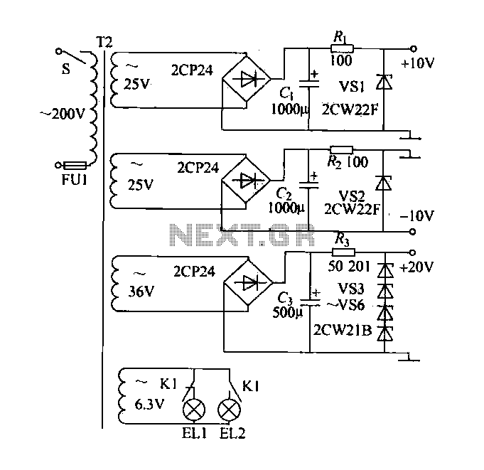 Parallel DC power supply circuit