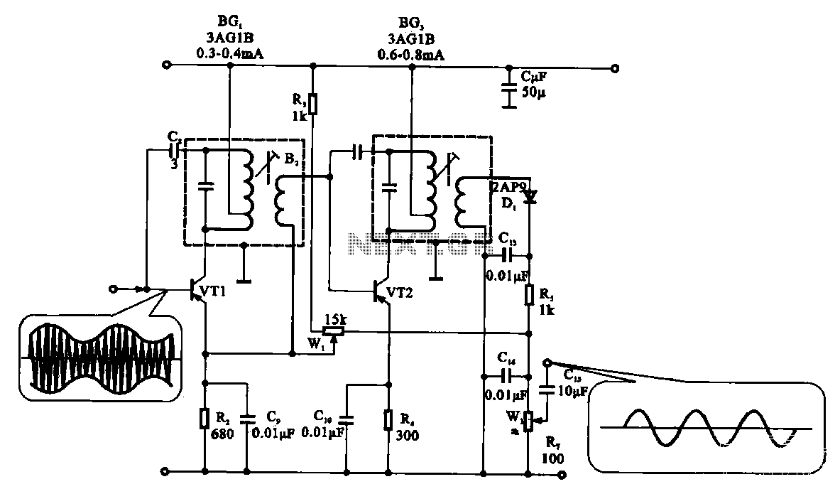 Radio harmonic detection circuit