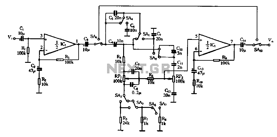 Restructuring of the pitch by the pitch selector circuit - schematic