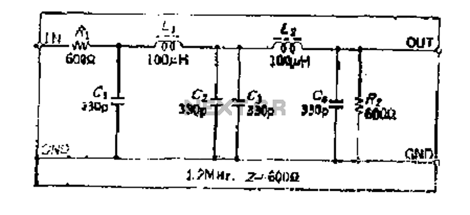 Simple design with a constant K-type high-frequency low-pass LC filter