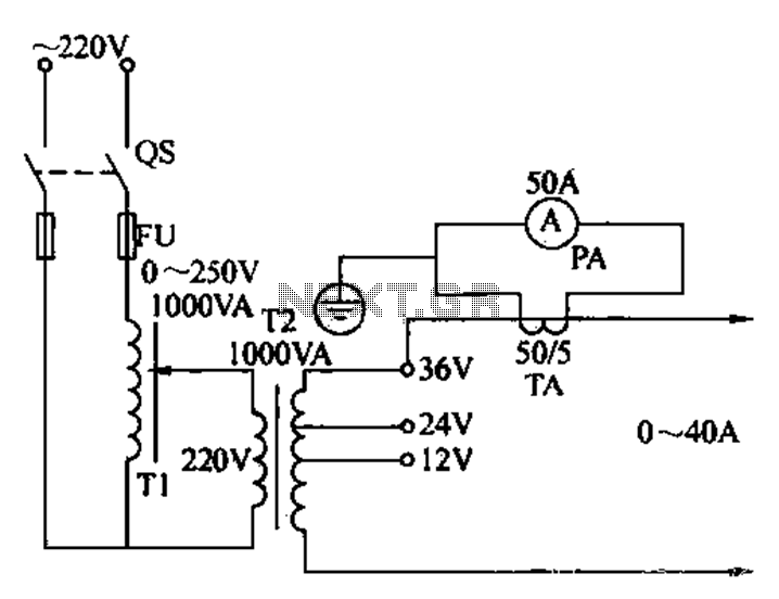 Small current generator circuit - schematic