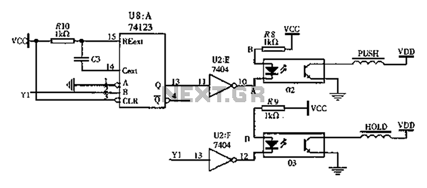 Switching solenoid drive circuit diagram - schematic