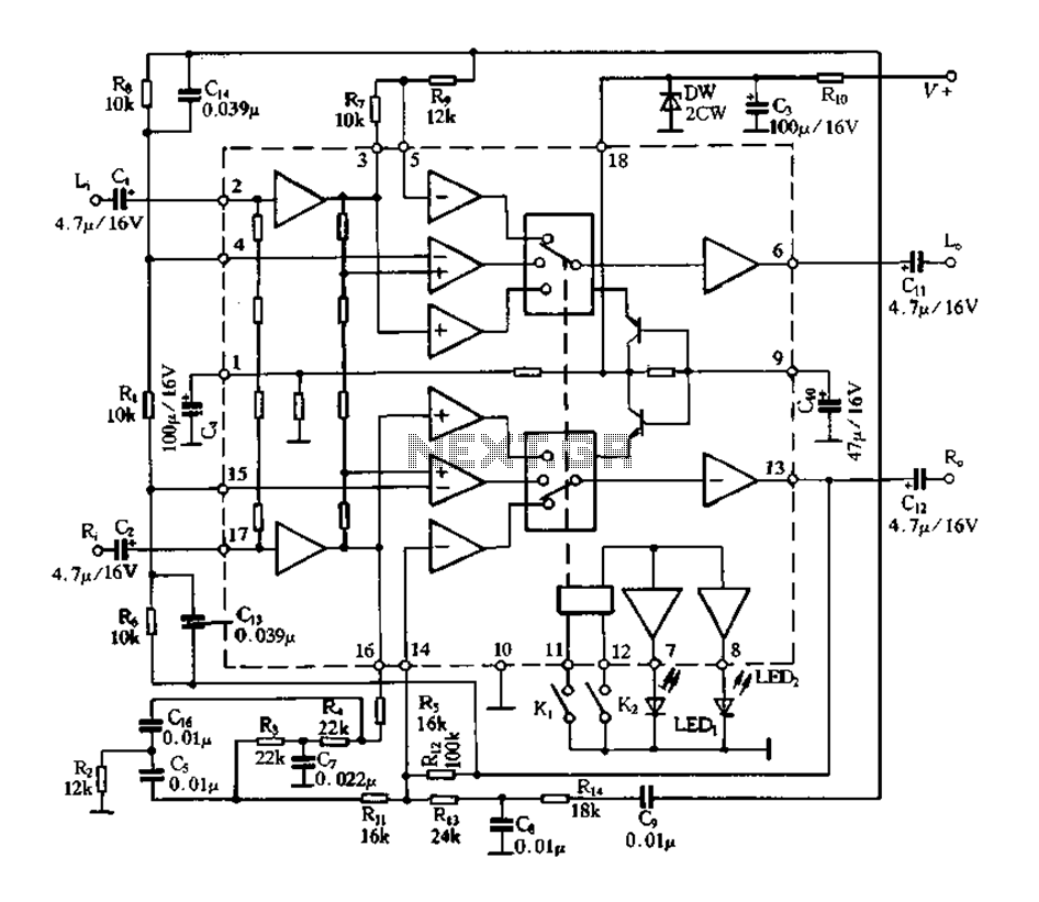 TDA3910 Internal Block Diagram