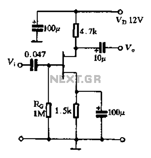 The basic FET amplifier circuit a - schematic
