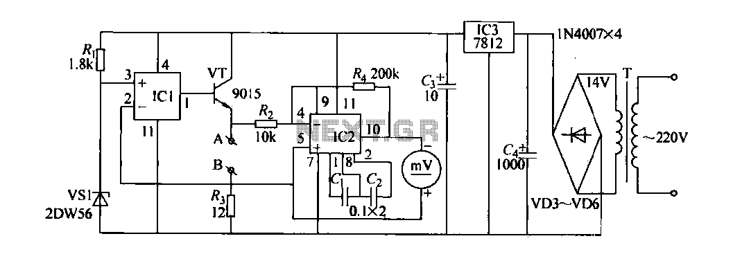 The contact resistance measuring circuit