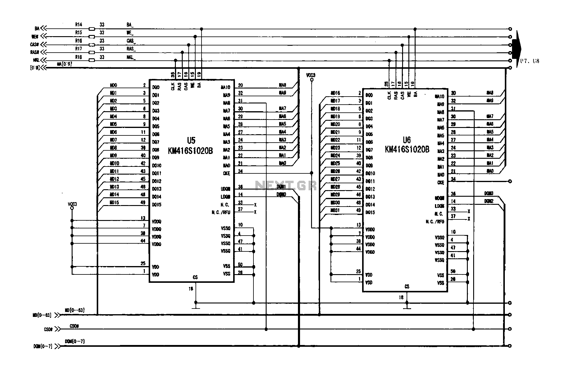 The frame memory circuit