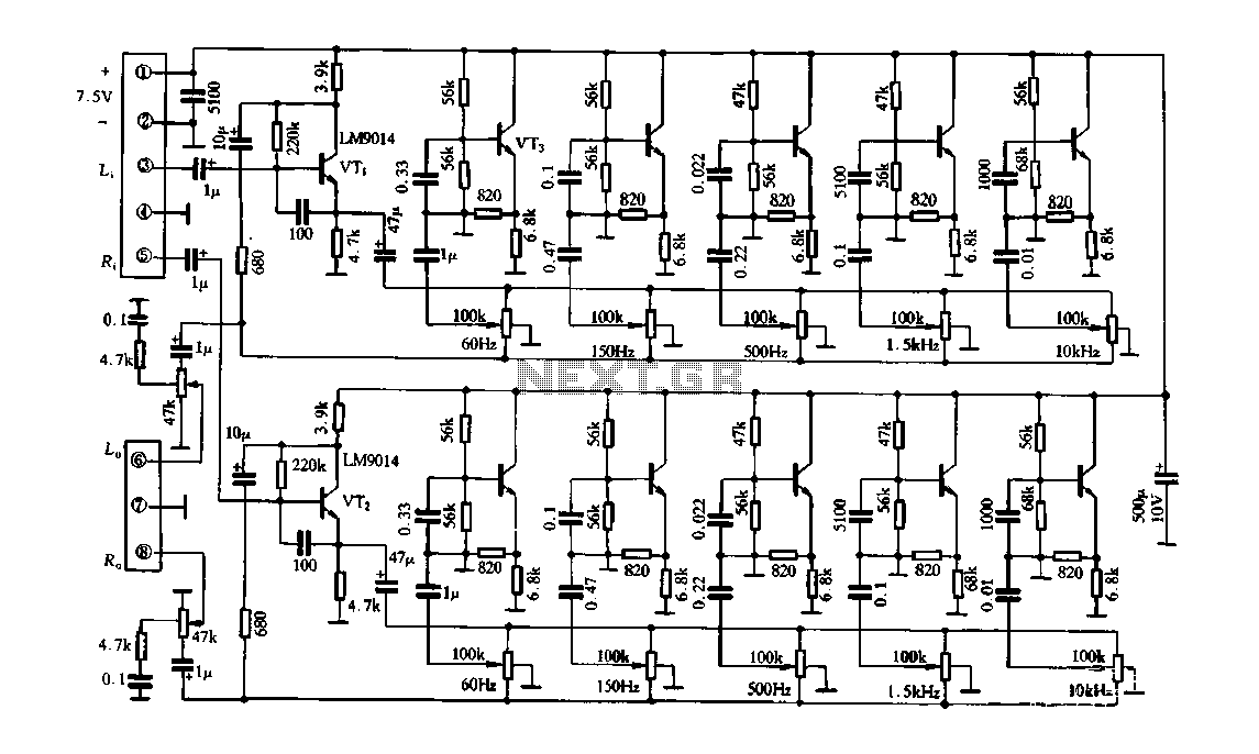 compressor schematic, 5 band equalizer bass, vocoder schematic, 5 band equalizer settings, 5 band graphic equalizer, on 5 band equalizer schematic