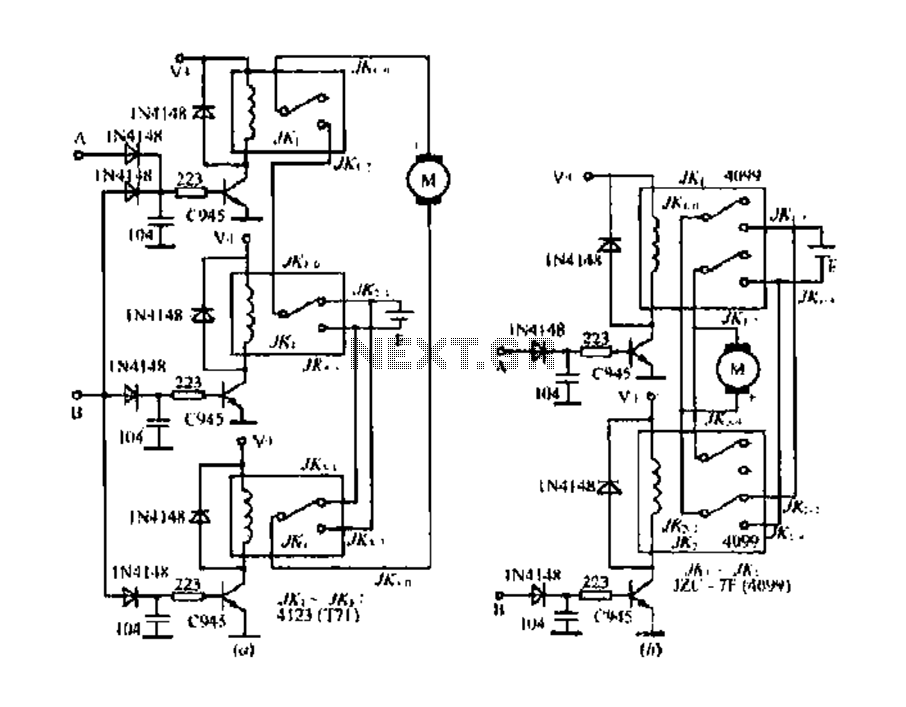 dc motor control circuit diagram forward reverse